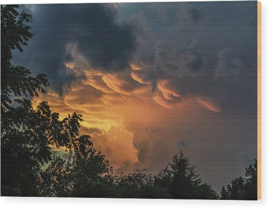 Heavenly Clouds Wood Print