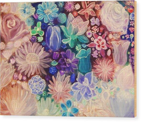 Heavenly Garden Wood Print