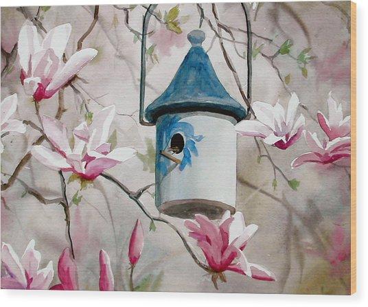 Heavenly Home Wood Print by Faye Ziegler