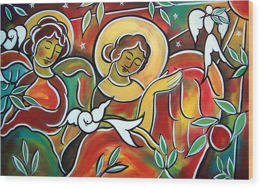 Heavenly Hosts Wood Print