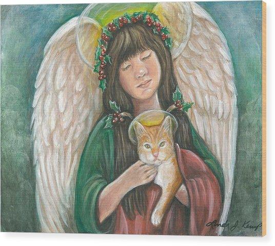 Heavenly Kitty Wood Print