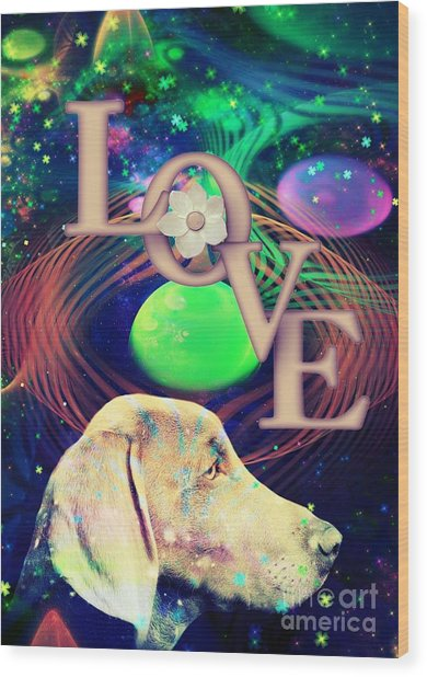 Wood Print featuring the digital art Heavenly Love by Kathy Tarochione