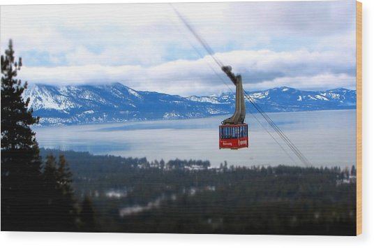 Heavenly Tram South Lake Tahoe Wood Print