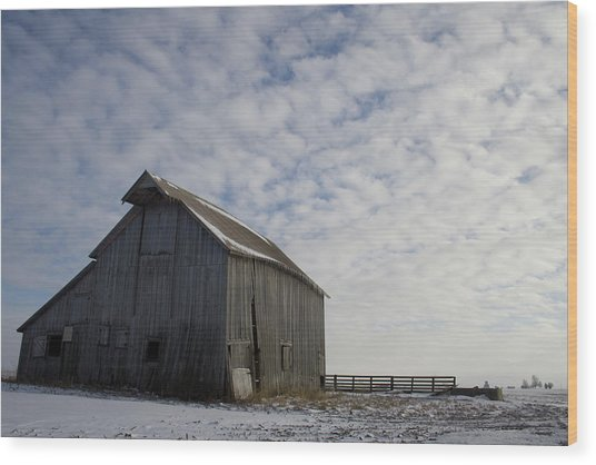 Heavens Barn Dusting Wood Print