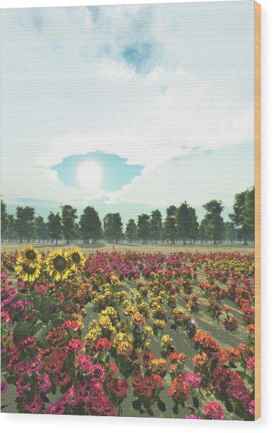Heavens Eye Wood Print