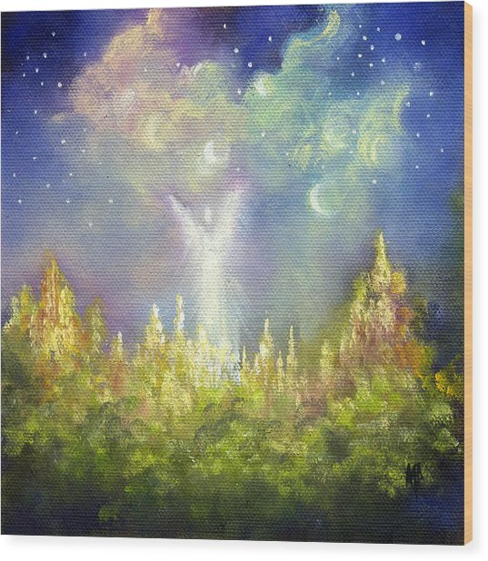 Heaven's Little Angel Wood Print