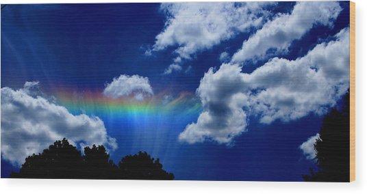 Heavens Rainbow Wood Print