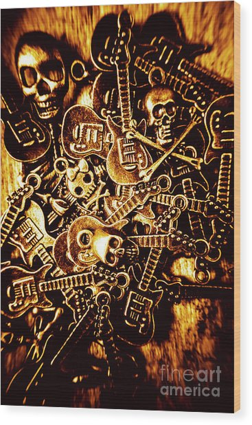 Heavy Metal Mix Wood Print
