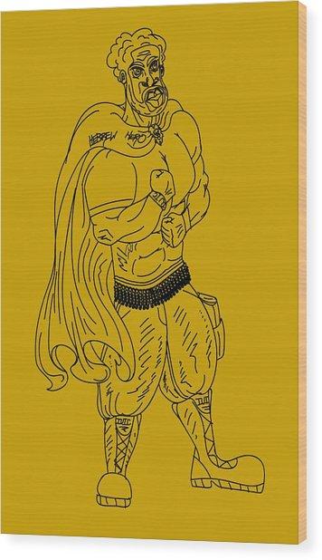 Hebrew Hero Wood Print
