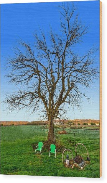 Hedge Apple Tree Wood Print