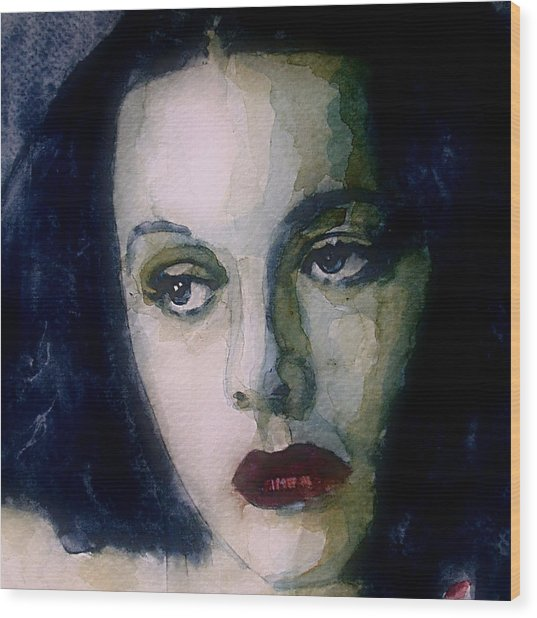 Hedy Lamarr Wood Print by Paul Lovering
