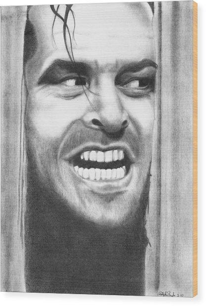 Heeeres Johnny Wood Print by Christopher Brooks
