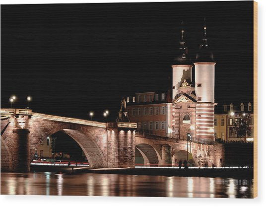 Heidelberg Bridge Wood Print