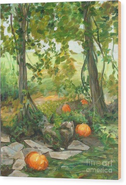 Heidi's Pumpkins Wood Print