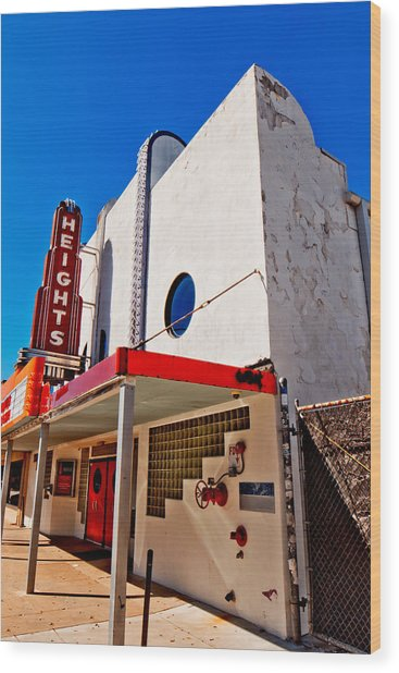 Heights Movie Theater Wood Print