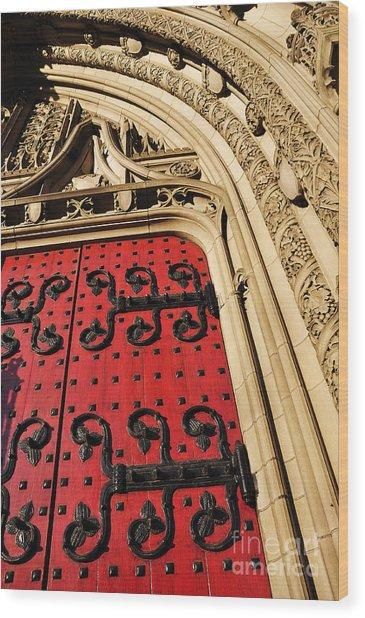 Heinz Chapel Doors Wood Print