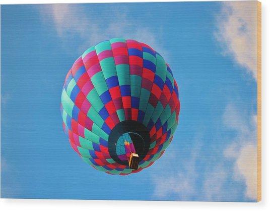 Helen Hot Air Balloon Wood Print