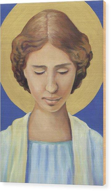 Helen Keller Wood Print
