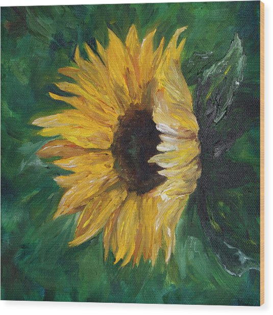 Helianthus Wood Print