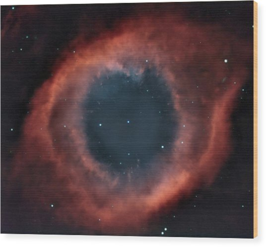 Helix Nebula Wood Print