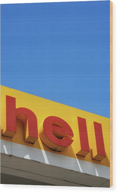 Hell Wood Print by Dylan Murphy