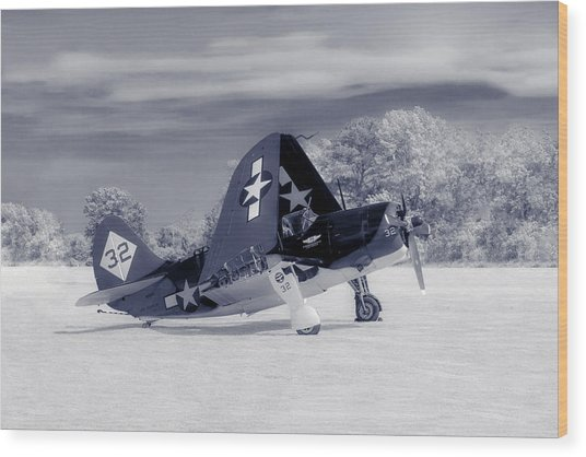 Helldiver Profile Duo Tone Wood Print