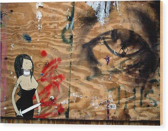Hello Big Eyes Wood Print by Jez C Self