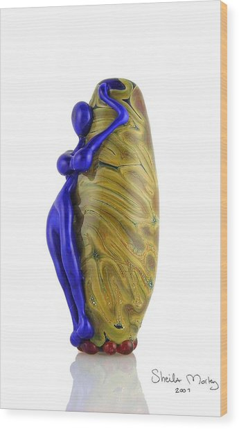 Hello Goddess Wood Print by Sheila Morley