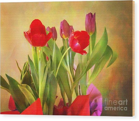 Hello Spring Wood Print