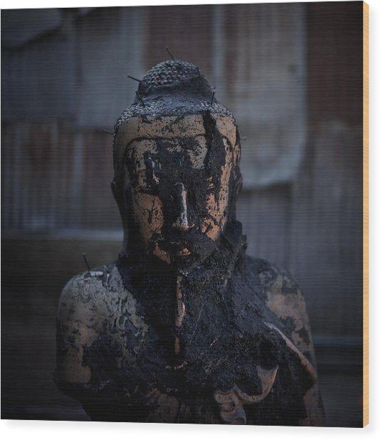 Hellraiser Buddha Wood Print