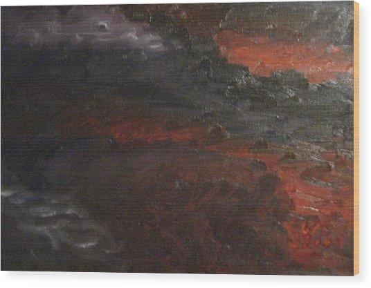 Hell's Fury Wood Print by Gloria Condon