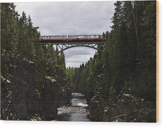Helvetefallet Dalarna Sweden Wood Print