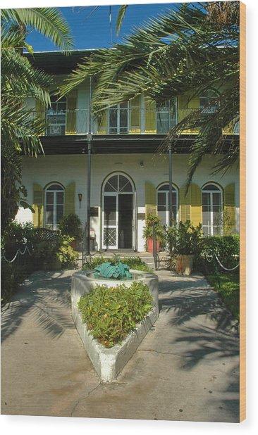Hemingways House Key West Wood Print