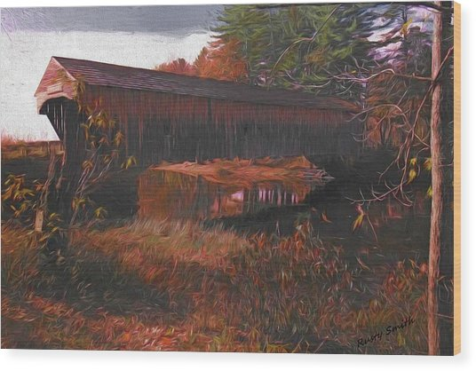 Hemlock Covered Bridge Wood Print