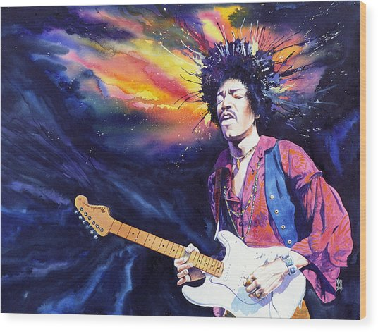 Hendrix Wood Print by Ken Meyer