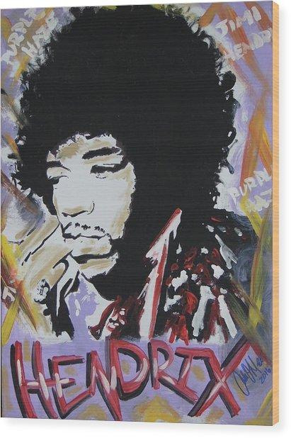 Hendrix Thoughts Wood Print
