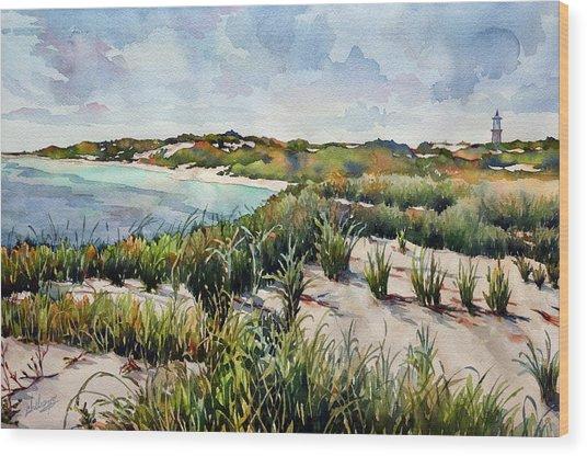 Henlopen Dunes Wood Print