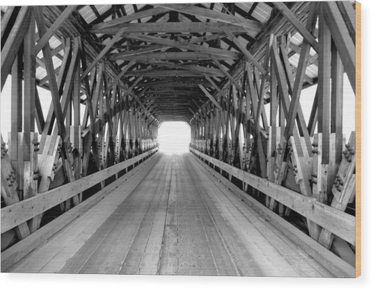 Henniker Covered Bridge Wood Print