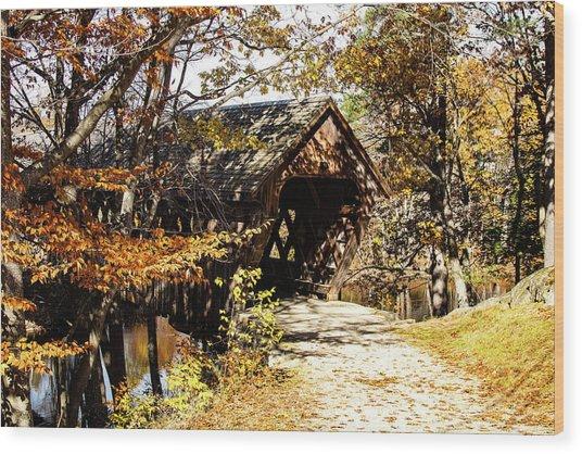 Henniker Covered Bridge New Hampshire Wood Print