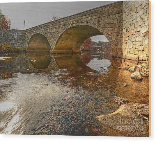 Henniker Village Bridge Wood Print