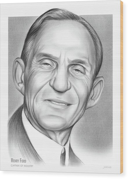 Henry Ford Wood Print
