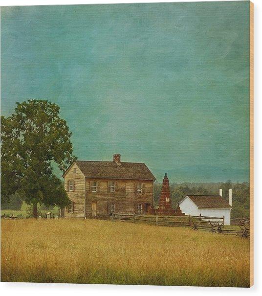 Henry House At Manassas Battlefield Park Wood Print
