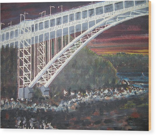 Henry Hudson Bridge Wood Print