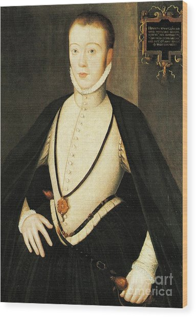 Henry Stewart Lord Darnley Married Mary Queen Of Scots 1565 Wood Print