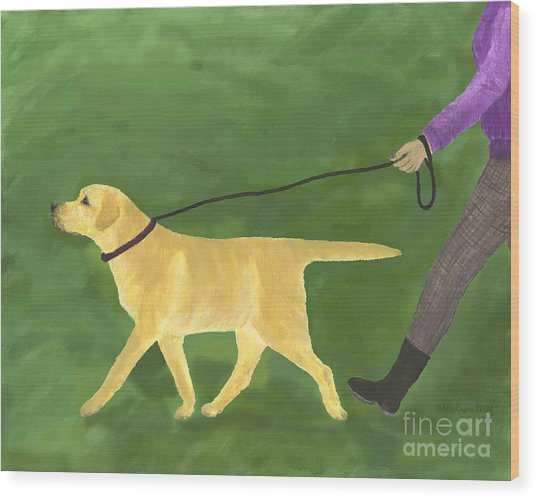 Her Dog Took Her Everywhere Wood Print