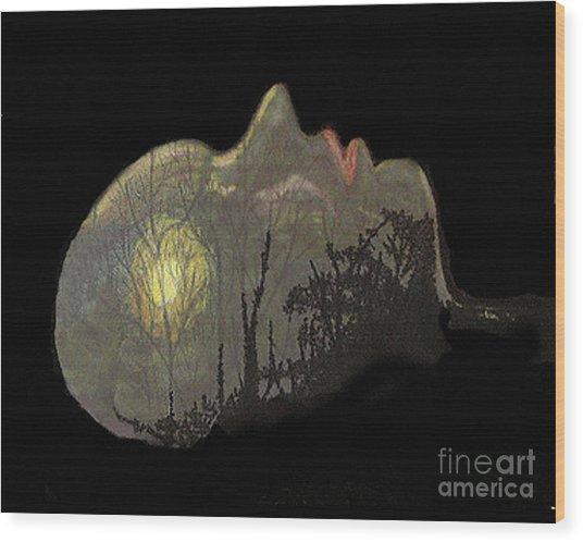 Her Dream Wood Print
