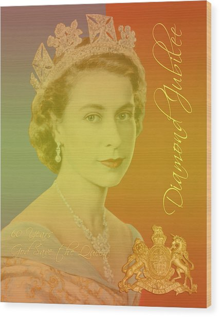 Her Royal Highness Queen Elizabeth II Wood Print