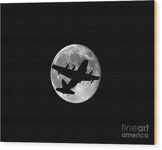 Hercules Moon .png Wood Print