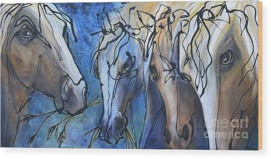Herd Dynamics Wood Print