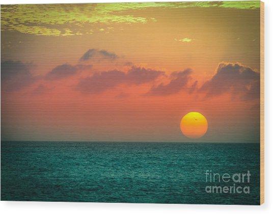 Here Goes The Sun 1 Wood Print